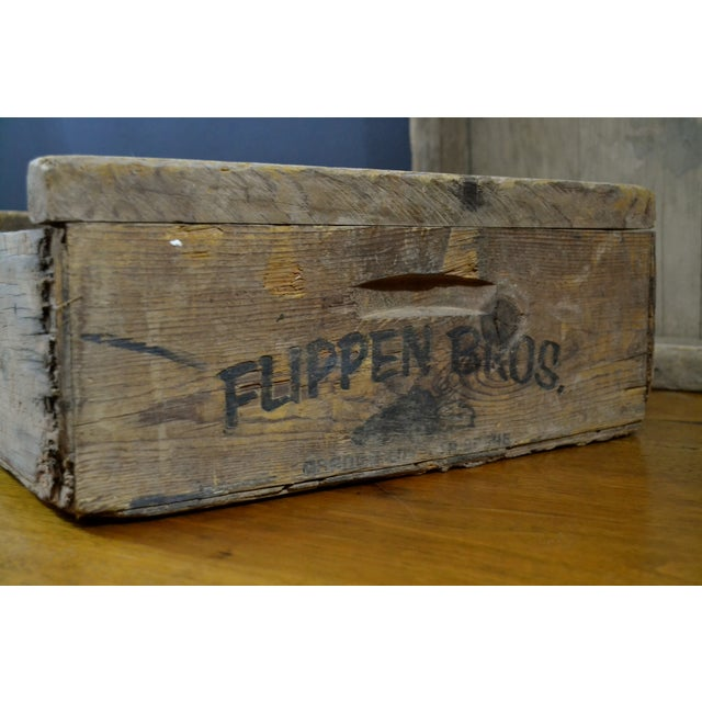 Flippen Bros. Wooden Fruit Crates - A Pair - Image 6 of 7