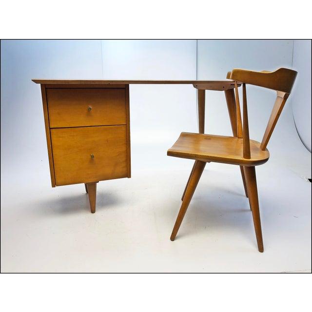 Mid Century Modern Paul McCobb Planner Group Desk & Chair For Sale - Image 12 of 13