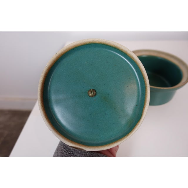 1960s Mid Century Modern David Gil Bennington Pottery Dish For Sale - Image 5 of 8