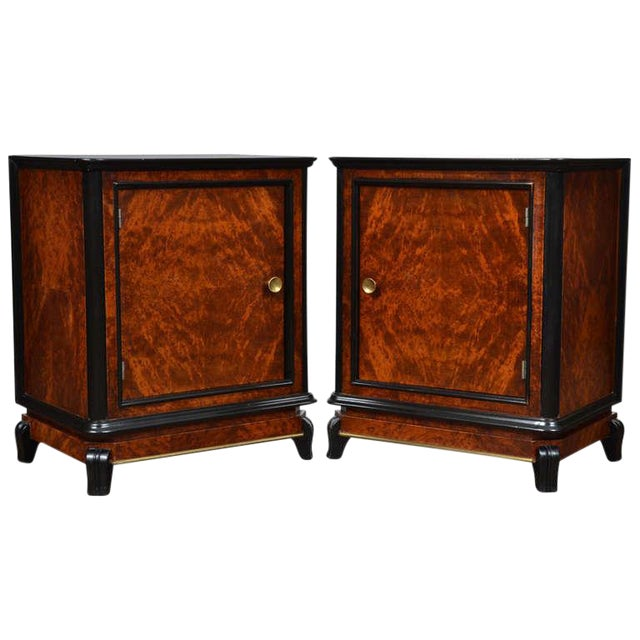 Austrian Art Deco Burled Walnut Side Tables - a Pair - Image 1 of 10