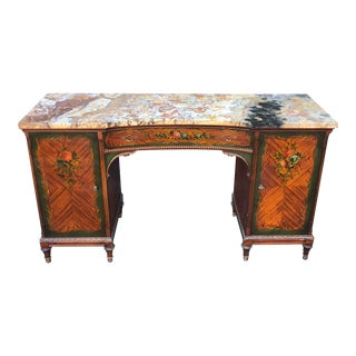 Antique Edwardian Angelica Kauffman Style Desk For Sale