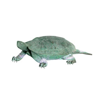 Late 19th Century Japanese Bronze Tortoise, Meiji Period For Sale