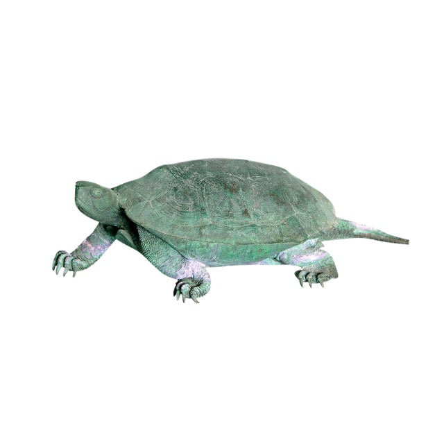 Late 19th Century Japanese Bronze Tortoise, Meiji Period For Sale