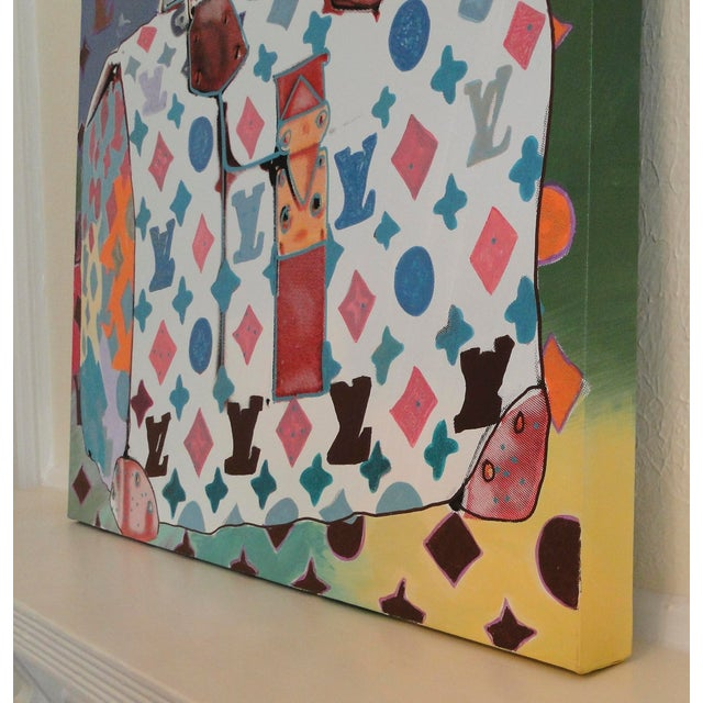 """""""Louis Vuitton Bag,"""" State II (Multi-Colored) Painting by Steve Kaufman (Sak) For Sale - Image 10 of 11"""