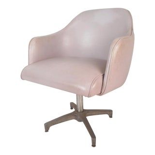 Mid-Century Modern Swivel Desk Chair For Sale
