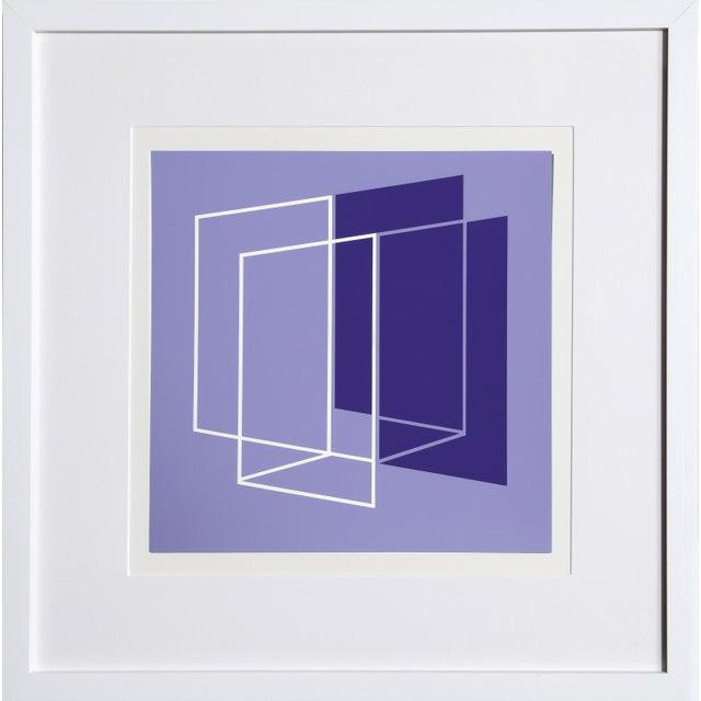 Josef Albers Josef Albers - Portfolio 1, Folder 26, Image 1 Framed Silkscreen For Sale - Image 4 of 4