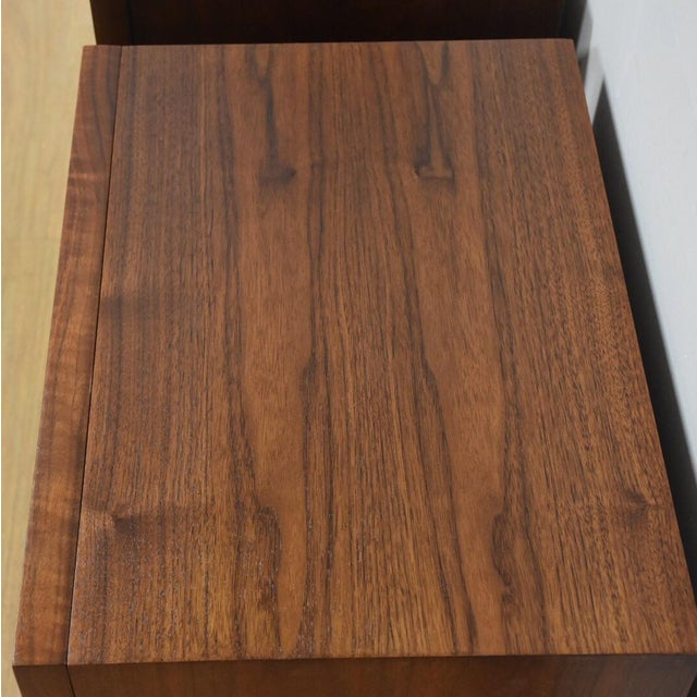 American of Martinsville Walnut Nightstands- a Pair - Image 8 of 8
