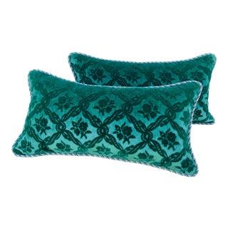 Vintage Stroheim and Romann Cut Mohair Lumbar Pillows/A Pair For Sale