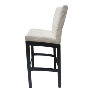 Cjc Concepta Barcelona Bar Stool Ivory Fabric Wenge Wood Chair For Sale