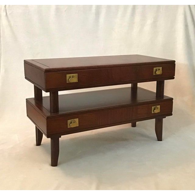 Mid Century Modern Walnut Stacked Style End Table For Sale - Image 13 of 13