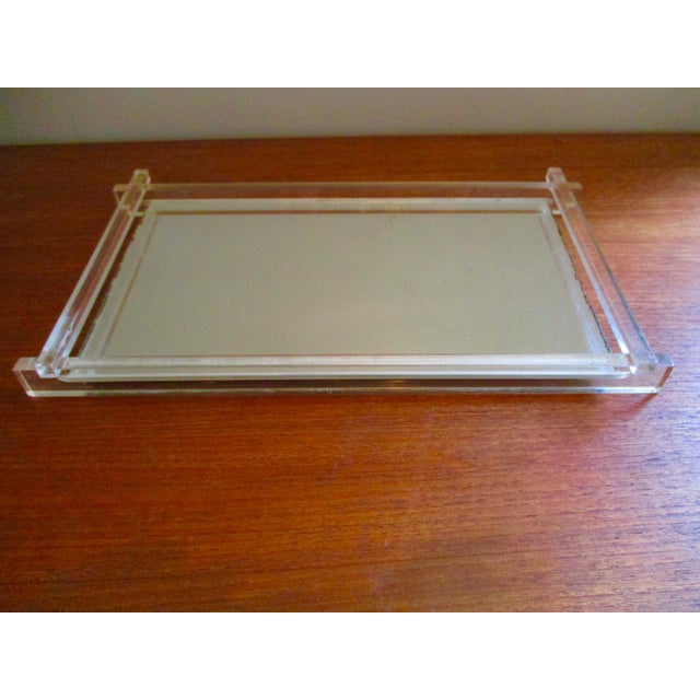 Art Deco Lucite Mirrored Vanity Tray For Image 3