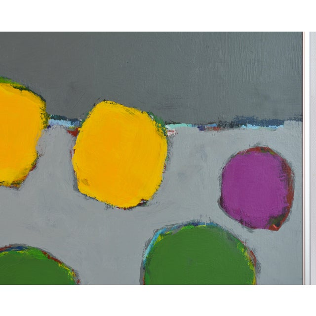 Early 21st Century 'Color Composition' Original Abstract Painting by Lars Hegelund, 25 X 25 In. For Sale - Image 5 of 9