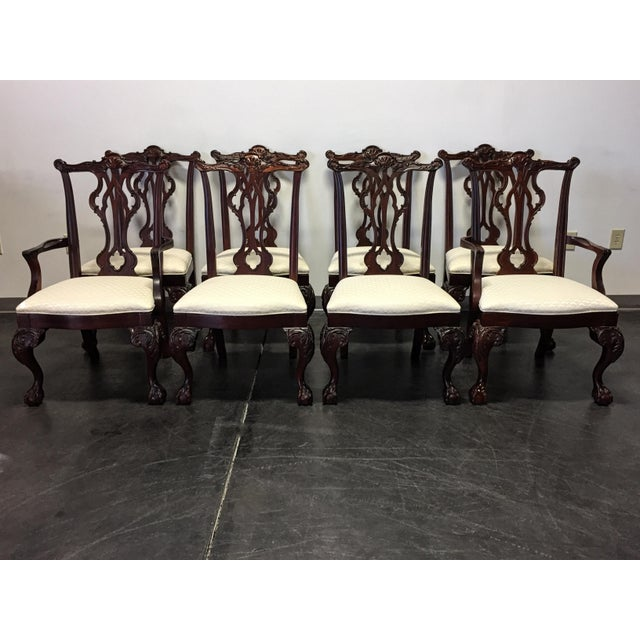 Thomasville Mahogany Collection Chippendale Dining Chairs - Set of 8 For Sale - Image 11 of 11