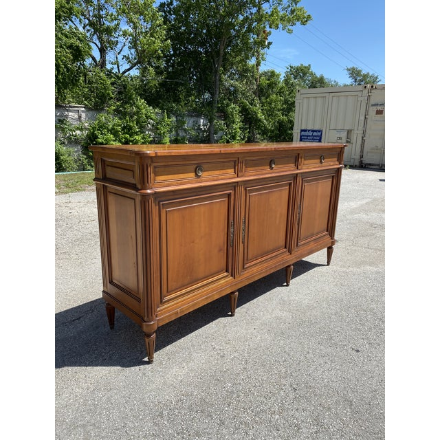 Chestnut French Louis XVI Style Fruitwood Sideboard For Sale - Image 8 of 11