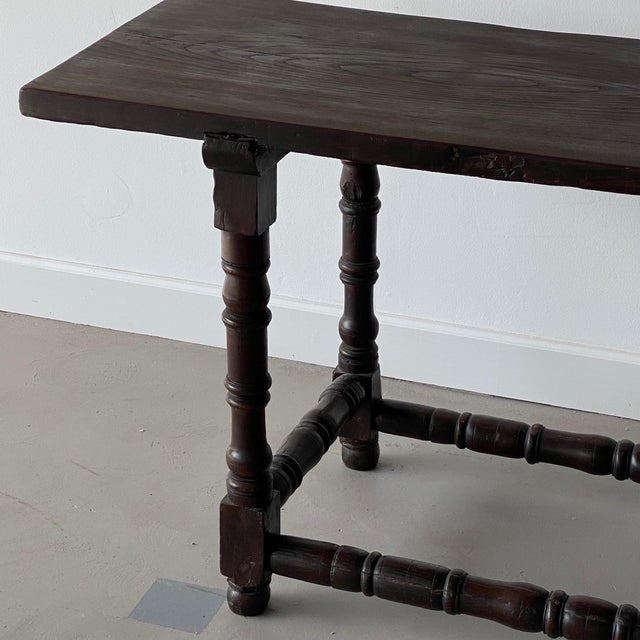 Italian 19th Century Extended Dark Italian Console For Sale - Image 3 of 9