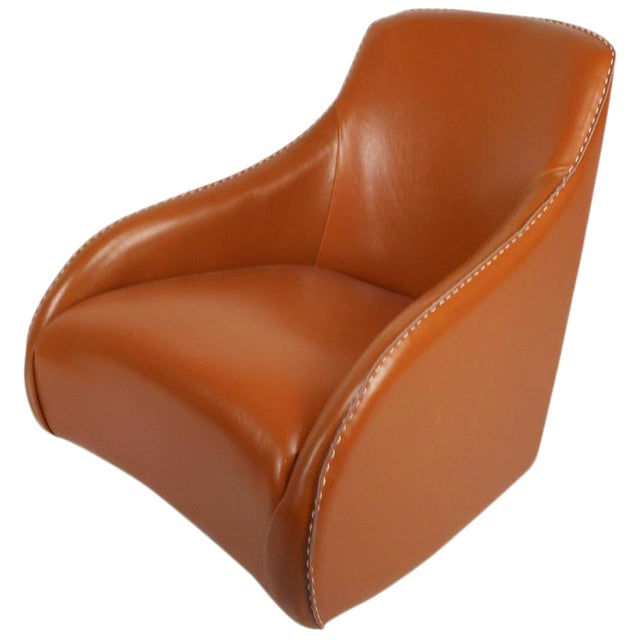 Contemporary Modern Leather Rocking Chair - Image 1 of 8