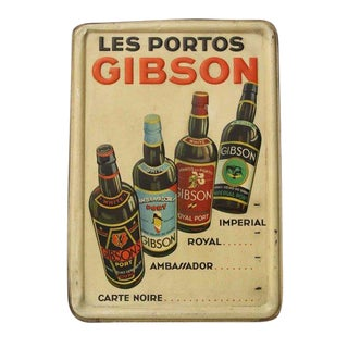 Vintage Liquor Sign from Gibson For Sale