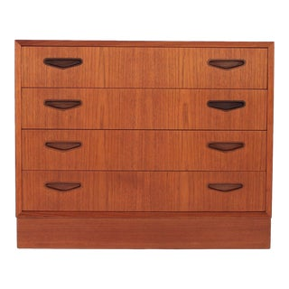 Danish Modern Omann Jun Møbelfabrik Chest of Drawers in Teak For Sale