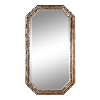 Silver Gilt Octagonal Beaded Mirror For Sale