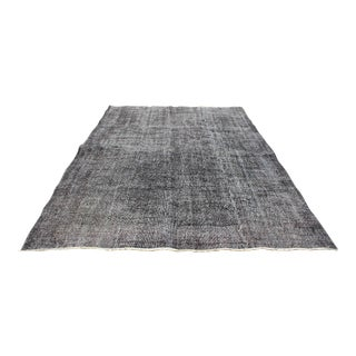 Gray Color Turkish Handmade Area Rug For Sale