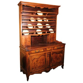 18th Century French Directoire Walnut Vaisselier or Cupboard For Sale