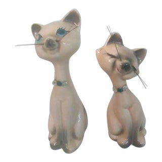 Vintage Cat Salt & Pepper Shakers - A Pair