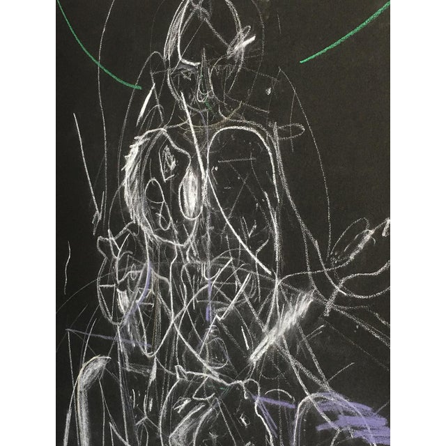 Abstract James C. Harrison Bringing Up Demons Framed Drawing For Sale - Image 3 of 7