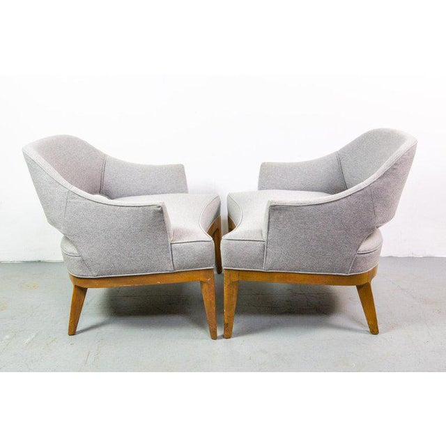 Mid-Century Modern Chic Pair of Lounge Chairs by Harvey Probber For Sale - Image 3 of 7