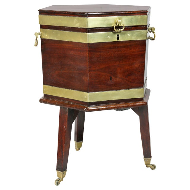 George III Mahogany and Brass Mounted Celleret For Sale - Image 11 of 11