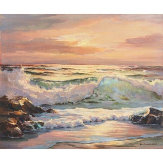 'Evening Waves' by Bea Sonnenberg, Pacific Coastal Seascape For Sale