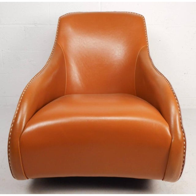 Contemporary Modern Leather Rocking Chair - Image 2 of 8