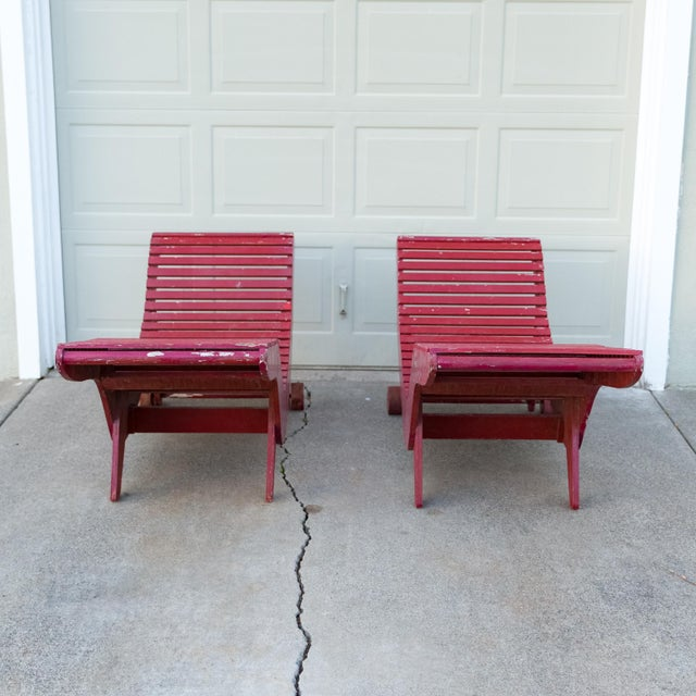 Klaus Grabe C5 Plywood Chaise Lounges - A Pair For Sale - Image 5 of 13