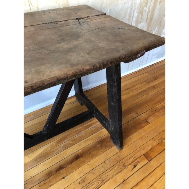 17th Century Italian Antique Trestle Table For Sale - Image 10 of 12