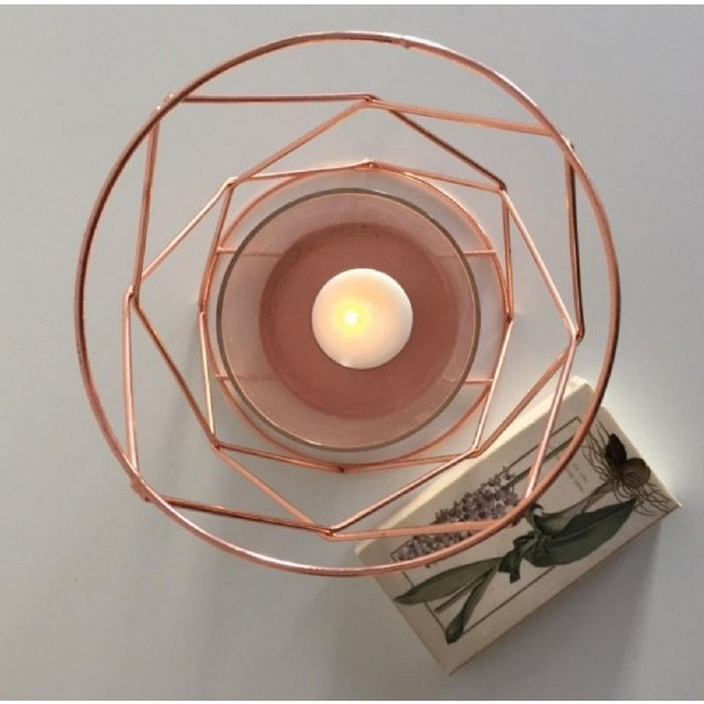 Copper Candle Coffee Table Display - Pair - Image 4 of 6