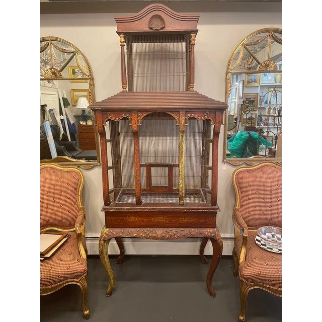 19th Century Vintage Three Piece Bird Cage For Sale - Image 11 of 11