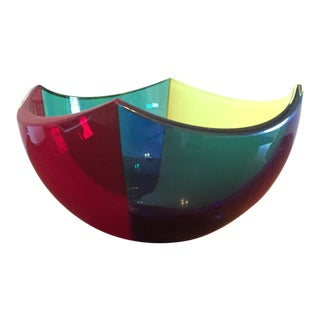 1990s Vintage Berit Johansson Designed Salviati Paraply Bowl For Sale