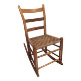 Image of 1940s Vintage Children's Rocking Chair For Sale