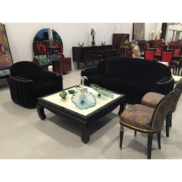 Art Deco American Art Deco Sofa and Club Chair For Sale - Image 3 of 10