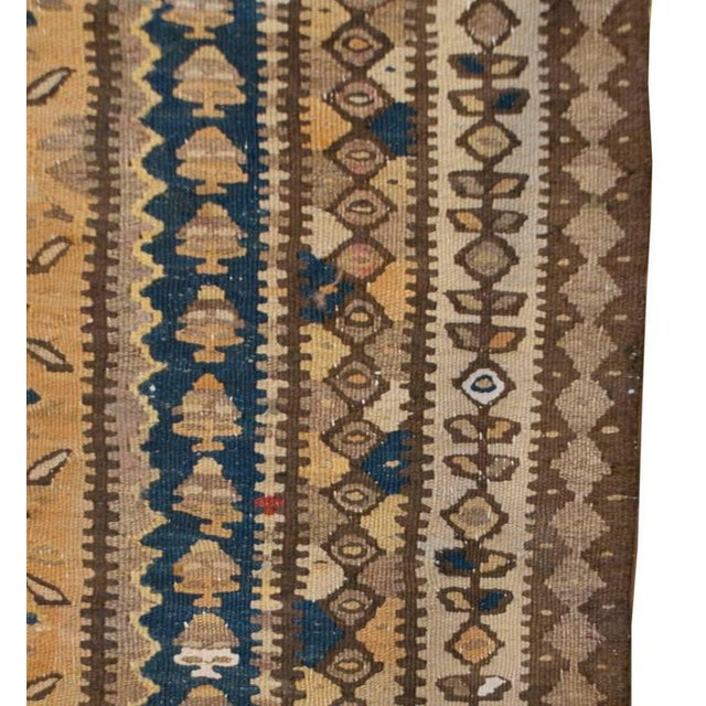 """Islamic Early 20th Century Senneh Kilim Runner - 55"""" x 144"""" For Sale - Image 3 of 5"""