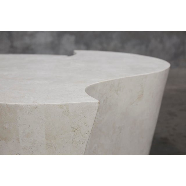 """White 1990s Contemporary Freeform White Stone Two Part """"Hampton"""" Coffee Table For Sale - Image 8 of 13"""