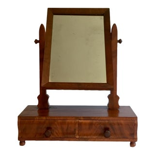 Early 20th Century Dresser Top Vanity With Mirror For Sale