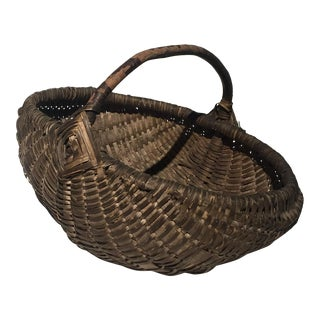 1910 French Egg Harvest Basket For Sale