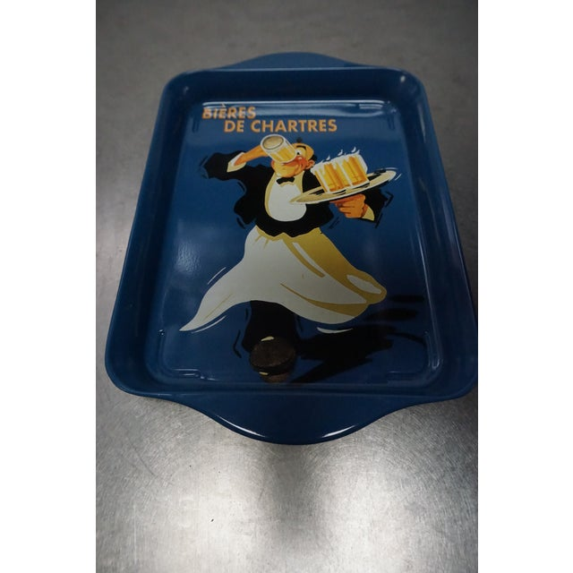 Small Blue Metal Tray - Image 3 of 5