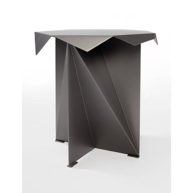 Brutalist One of Two Dart Side Tables by Harry Clark For Sale - Image 3 of 5