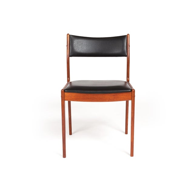 Johannes Andersen Johannes Andersen Uldum Møbelfabrik Danish Teak Dining Chairs — Set of Four For Sale - Image 4 of 12