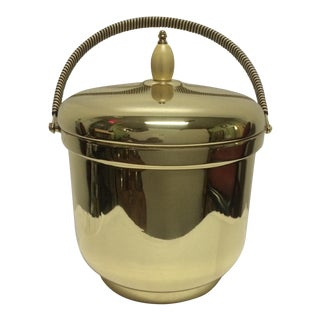Mercury Glass Brass Ice Bucket