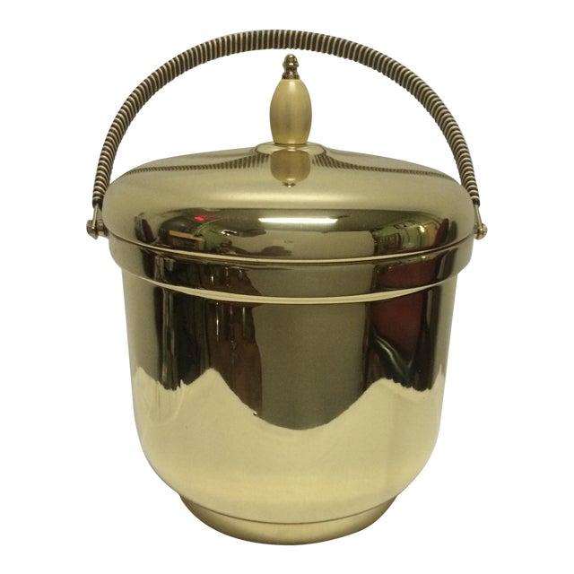 Mercury Glass Brass Ice Bucket For Sale