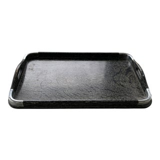 1950s Mid Century Modern Nasco Noir Serving Tray For Sale