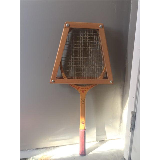 Vintage Coronet Wood Tennis Racket - Image 2 of 9