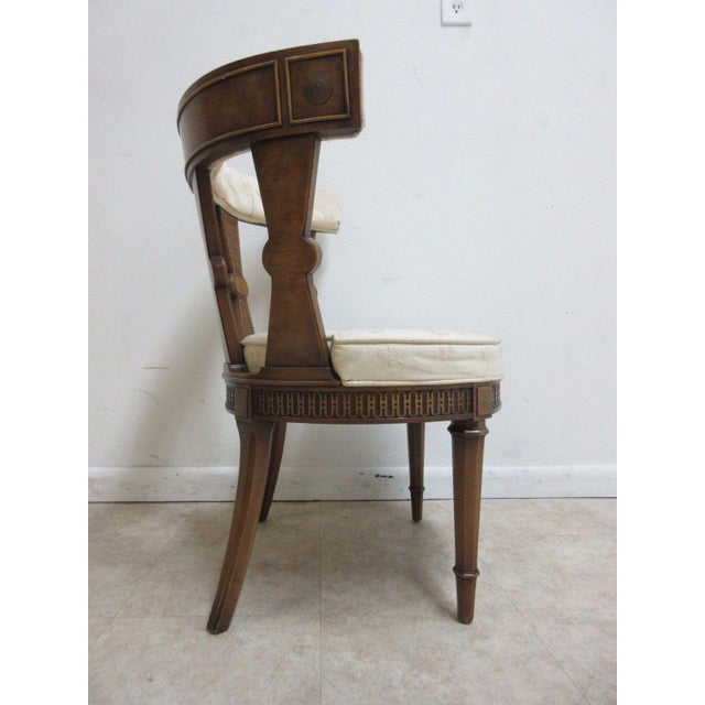 Vintage Italian Regency Cherrywood Fireside Side Lounge Chair For Sale - Image 4 of 11